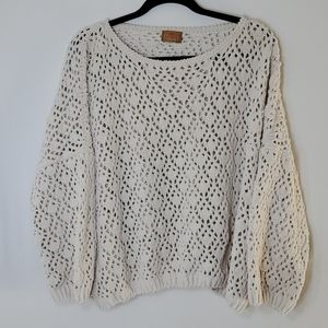 POL Chunky Cable Knit Sweater